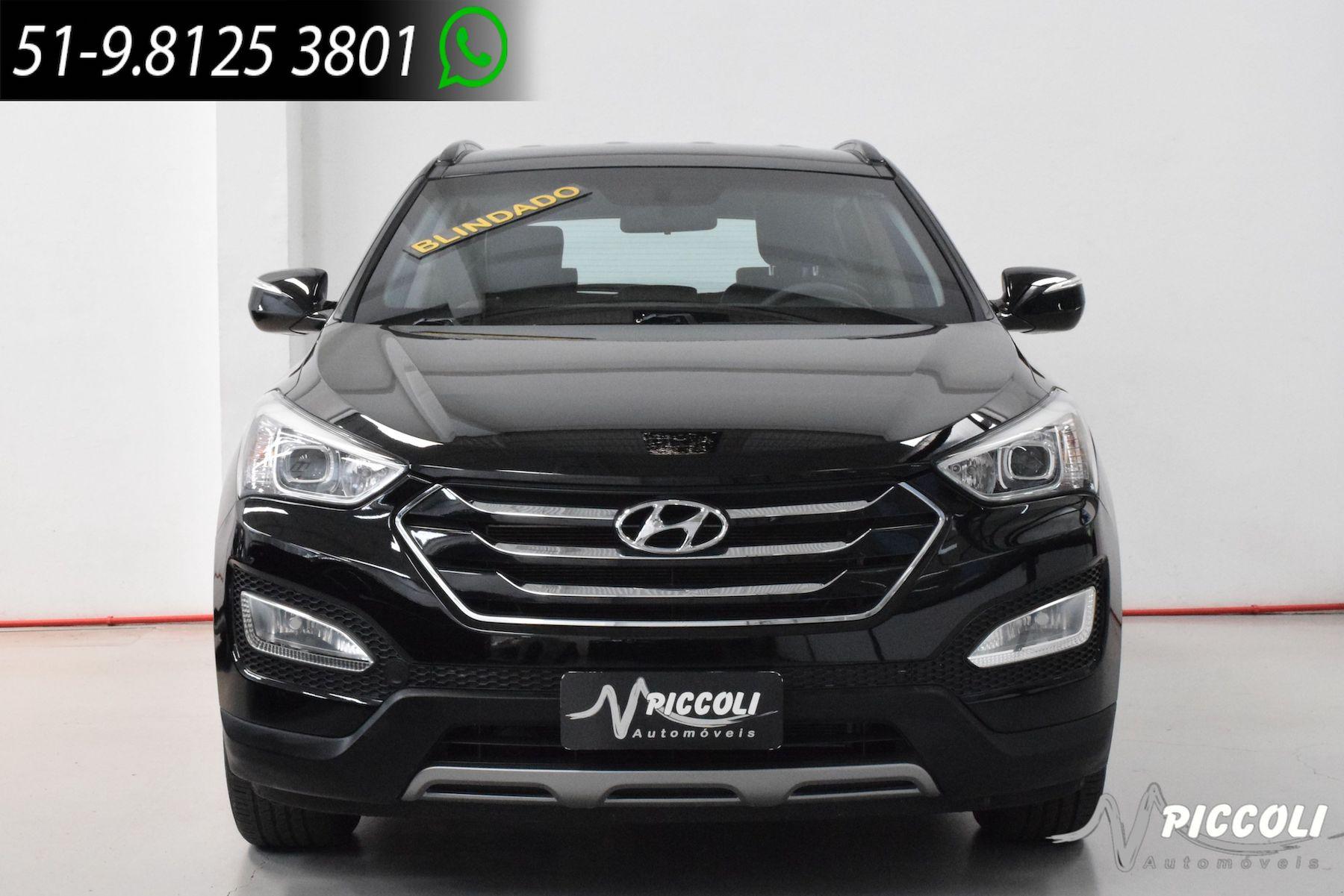 HYUNDAI - SANTA FÉ V6 BLINDADA - 2013/2014 - PRETA - R$ 119.900,00